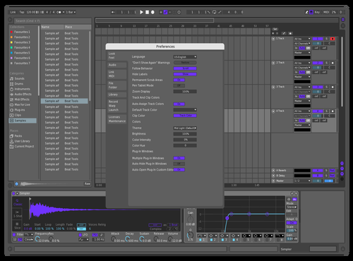 Purple Dark Theme for Ableton 10 by Jake