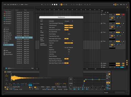 Modern Dark Edits Theme for Ableton 10 by rombie