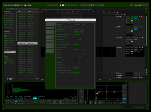 Green Theme for Ableton 10 by Bob Saggot