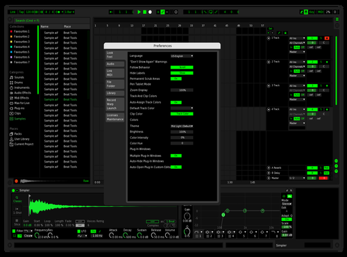 Spotify Revised Theme for Ableton 10 by Dhanush