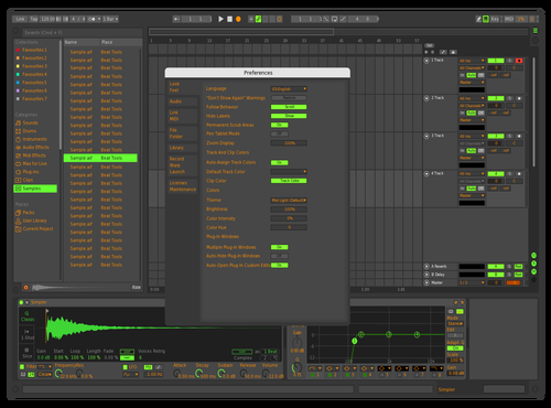 Green and orange 2 Theme for Ableton 10 by Josh