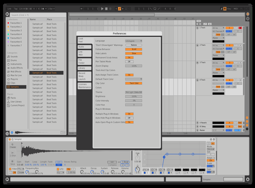 Massive X - Removed Blue Selection Theme for Ableton 10 by Mr. Trunks