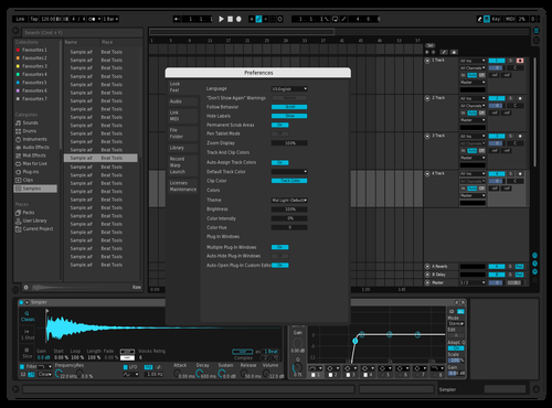 Test Theme for Ableton 10 by Matteo Caldari