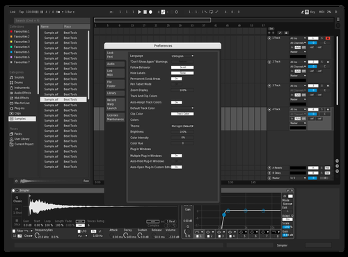 WinCleanWhite Theme for Ableton 10 by Chris DeStefano