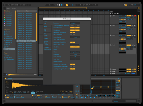 Blue Orange Theme for Ableton 10 by Paul Matthew