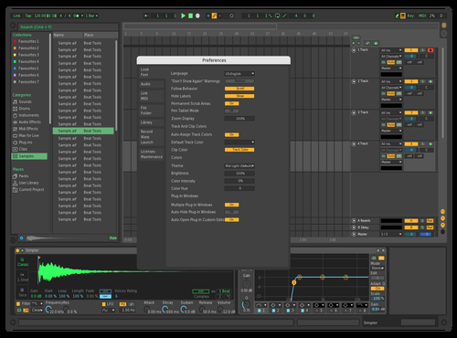 DarkandGreen Theme for Ableton 10 by Wazon321