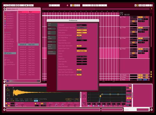 Strawberry bread Theme for Ableton 10 by Fletcher Hendrickson