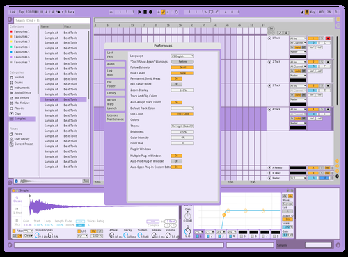 VioletLight Theme for Ableton 10 by Arypa
