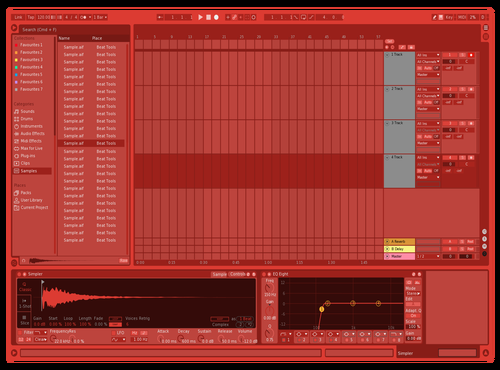 Red Theme for Ableton 10 by Ableton Themes