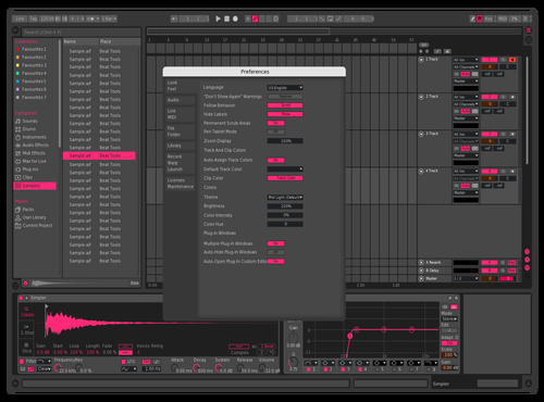 New pink Theme for Ableton 10 by wattup