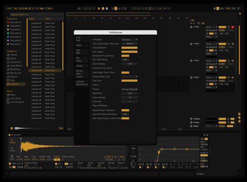 Dark & Orange Theme for Ableton 10 by Vadim
