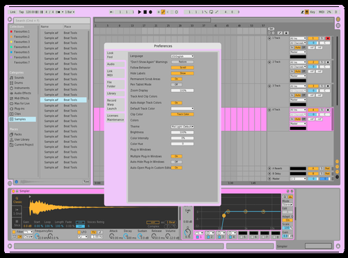 Sakura Pastel v1 Theme for Ableton 10 by cosmiclights