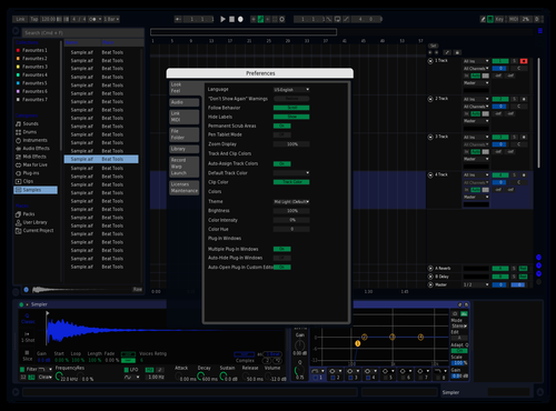 BluBlack Theme for Ableton 10 by Ryan Lee