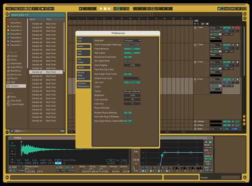 Rich Gold Theme for Ableton 10 by qkrrjs