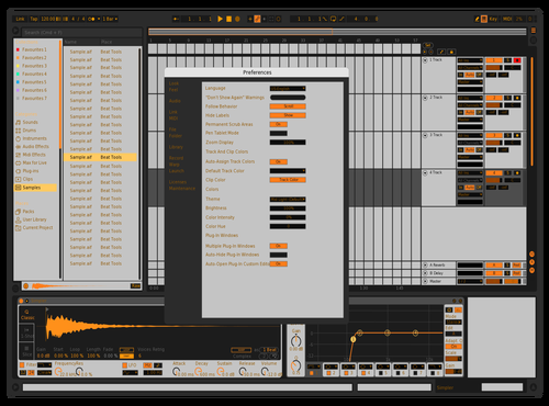 Dark grey orNg Theme for Ableton 10 by Fletcher Hendrickson