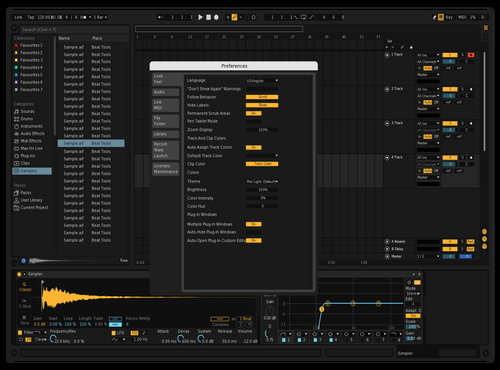Darker Theme for Ableton 10 by Benjamin Lapierre