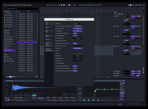 Samo Dark Purple Theme for Ableton 10 by Samo
