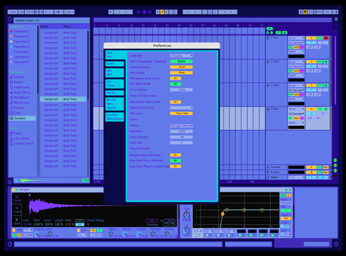 Ultra-Violet Theme for Ableton 10 by Alan Turing