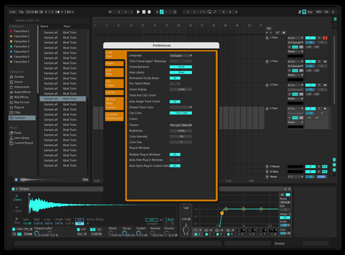 Ferlite2 Theme for Ableton 10 by Linus Schoeller