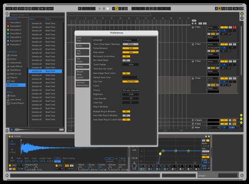 FUTURE SKIN Theme for Ableton 10 by DVLSPLY