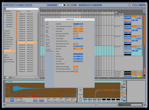 Brown n blue Theme for Ableton 10 by Prymus