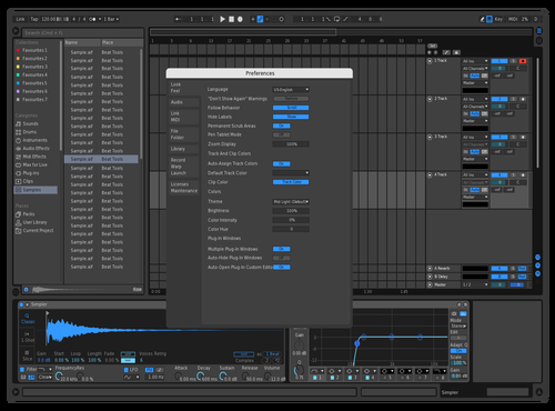 Darkblue Theme for Ableton 10 by mrain94