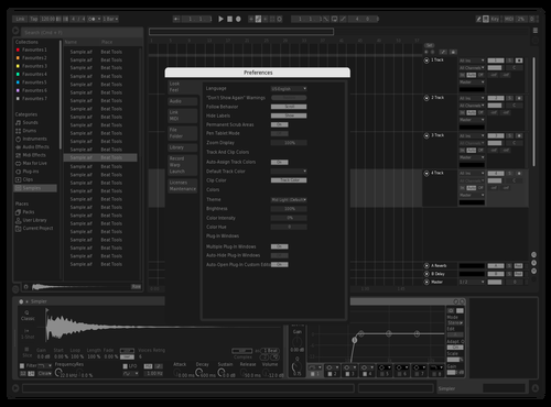 Black Night Theme for Ableton 10 by nklz