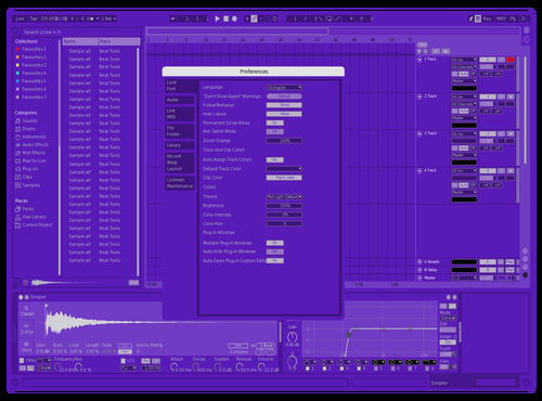 JE Very Purple Theme for Ableton 10 by jalen