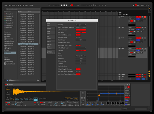 Red & Blue Theme for Ableton 10 by Mr Chow