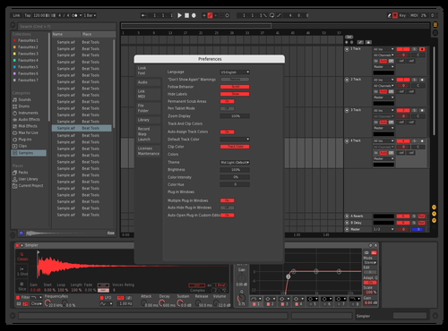 Redpurp2 Theme for Ableton 10 by Yyuno