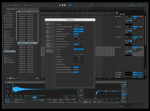 Wintersix Blue Theme for Ableton 10 by w666