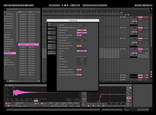 Dark Pink Theme for Ableton 10 by Alex
