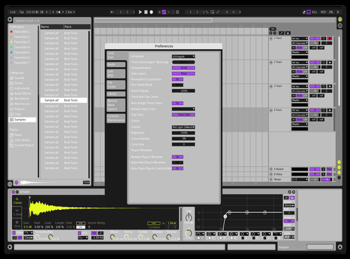 Gold n' Purp Theme for Ableton 10 by Brother Xah