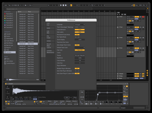 Darkpurpledark4000 Theme for Ableton 10 by hans
