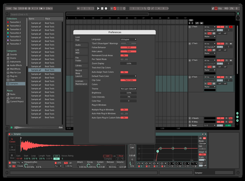 Red and Aqua muted Theme for Ableton 10 by AxtSin