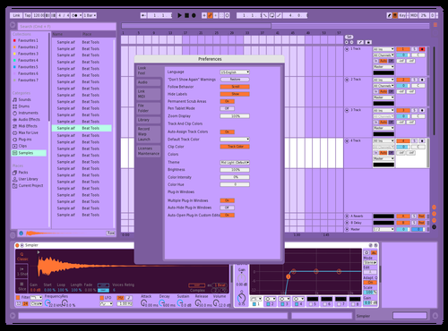 Violet Theme for Ableton 10 by Jack Hickey