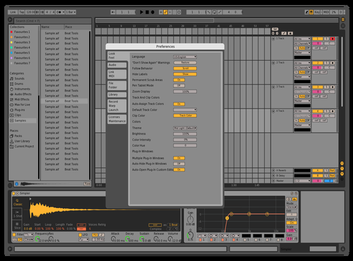 Slight adjust es 1 Theme for Ableton 10 by Eric Straube