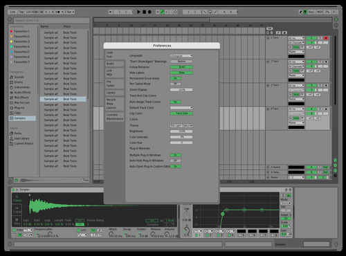 Green Gradient Theme for Ableton 10 by Michael