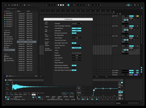 Blue Nova Darker Theme for Ableton 10 by Not Reaver alt