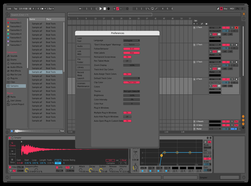 DarkNeonBlueYellow Theme for Ableton 10 by T.G.I.-Friday