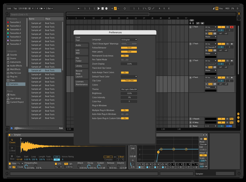 Dark but Adjusted Theme for Ableton 10 by Rahul Roy