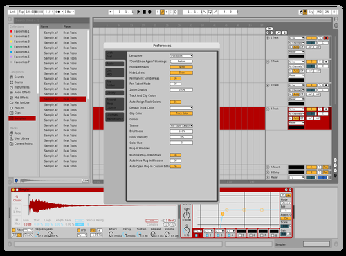 Light red Theme for Ableton 10 by Fernando Ponce