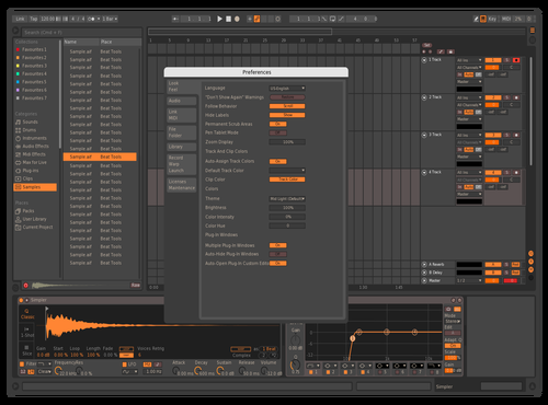 Green Dark Theme for Ableton 10 by Bao Nguyen