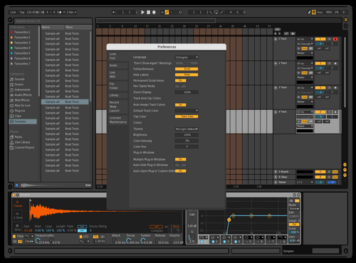 Dark Orange Theme for Ableton 10 by Jet