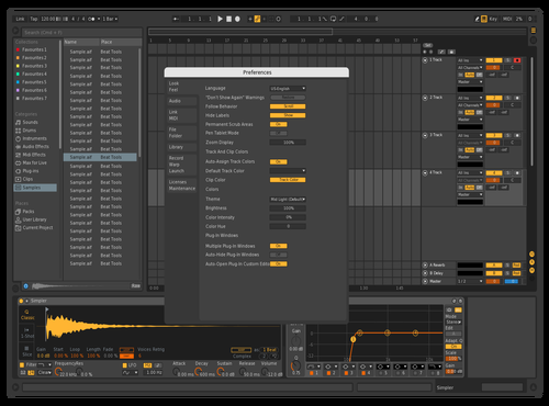 Live 9 Dark Theme for Ableton 10 by Justin Raabe
