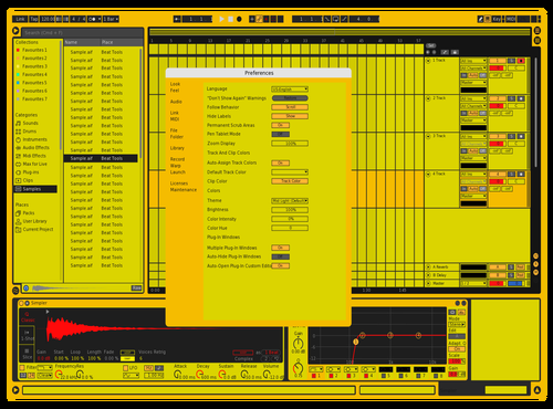 Bumblebee Theme for Ableton 10 by Malaxia