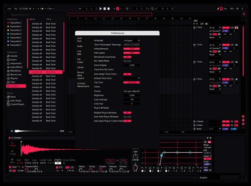 Pinkish Boiii Theme for Ableton 10 by ChORIS