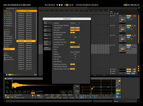 Easy orange 2 Theme for Ableton 10 by Paul Matthew
