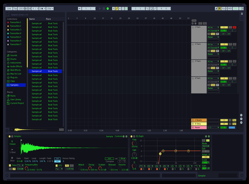 Winamp UI Theme for Ableton 10 by Nick Atkins