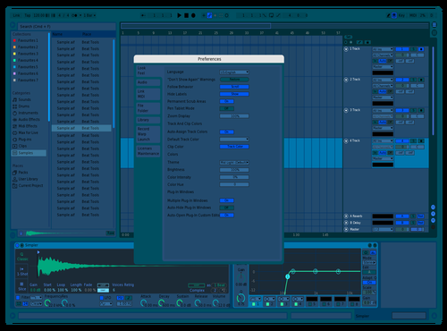 Ciel Bleu Theme for Ableton 10 by Olivier David Laplante